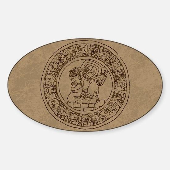 Mayan Calendar Sticker (Oval)