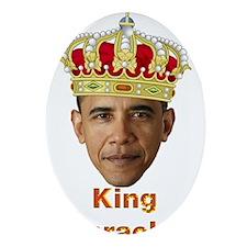 King Barack I v2 Ornament (Oval)