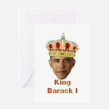King Barack I v2 Greeting Card