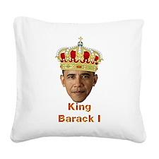 King Barack I v2 Square Canvas Pillow