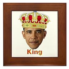 King Barack I v2 Framed Tile