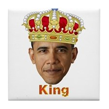 King Barack I v2 Tile Coaster