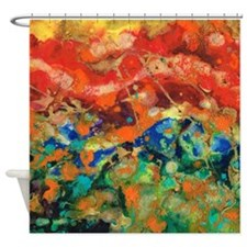 Flying Kites At The Beach Shower Curtain