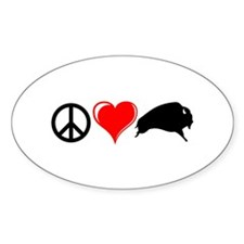 Peace Love Buffalo Decal