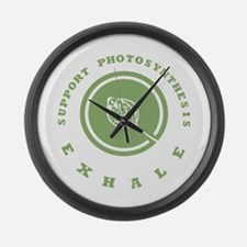 Support Photosynthesis Exhale Logo Large Wall Cloc