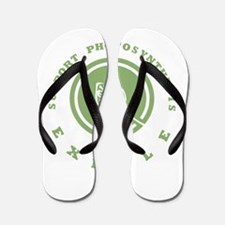 Support Photosynthesis Exhale Logo Flip Flops