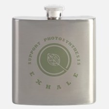 Support Photosynthesis Exhale Logo Flask