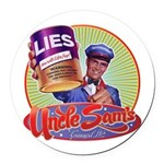 Uncle Sams Canned Lies Round Car Magnet