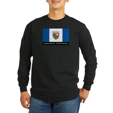 Northwest Territories Flag Long Sleeve Dark T-Shir