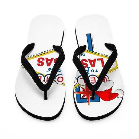 Welcome to Las Vegas Christmas Flip Flops