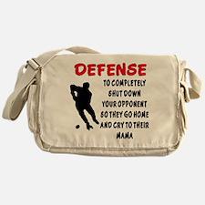 DEFENSE SHUT DOWN OPPONENT Messenger Bag