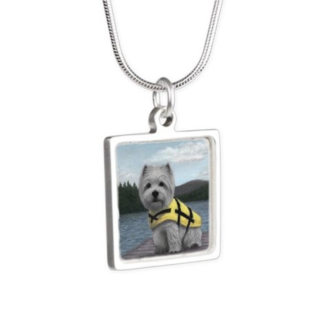 Truman at the Lake Silver Square Necklace