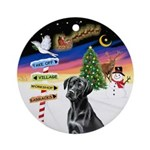 X-Signs - Black Labrador 1 Ornament (Round)