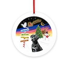 X-Signs - Black Labrador 1 Ornament (Round)