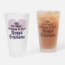Cute Going to be a great grandma again Drinking Glass