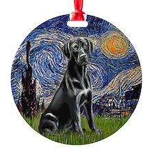 Starry-Black Labrador Ornament