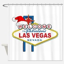 Welcome to Las Vegas Christmas Shower Curtain