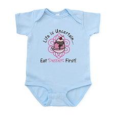 Eat Dessert First Infant Bodysuit