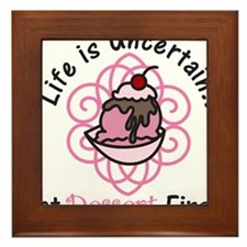 Eat Dessert First Framed Tile
