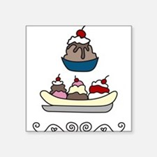 "Sundaes Square Sticker 3"" x 3"""