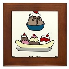 Sundaes Framed Tile