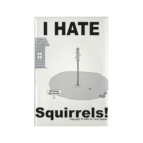 Squirrel Quicksand Rectangle Magnet