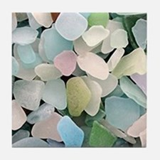 Sea glass Tile Coaster