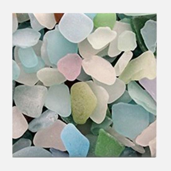 Sea glass Tile Coaster