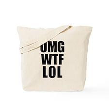 OMG WTF LOL Tote Bag