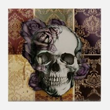 Victorian Skull and Roses Coaster