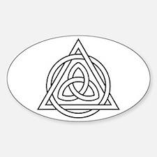 Triquetra Celtic Triangle Sticker (Oval)