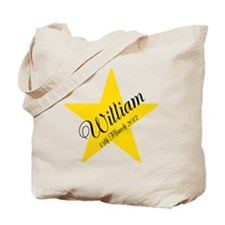 Personalized Star - Babys name and birth date Tote