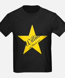 Personalized Star - Babys name and birth date T