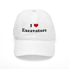 I Love Excavators Baseball Cap