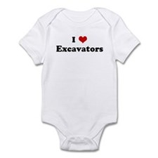 I Love Excavators Infant Bodysuit