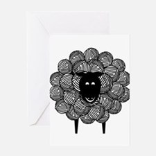 Yarny Sheep for Lights Greeting Cards