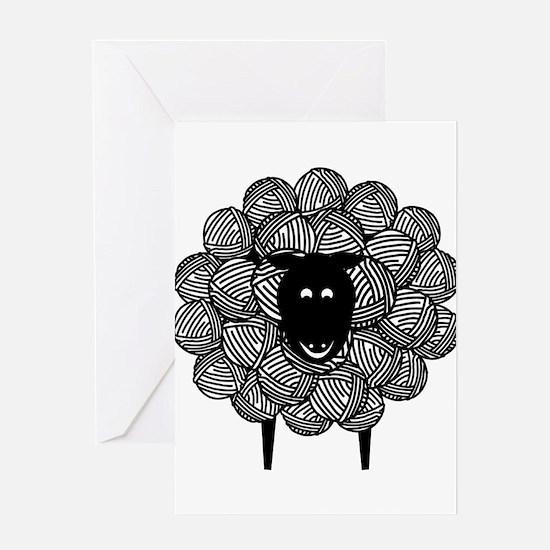 Yarny Sheep for Lights Greeting Cards