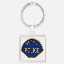 Perris Police Square Keychain