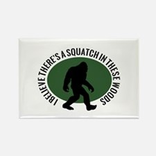 Squatch in these Woods Rectangle Magnet