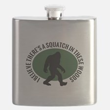Squatch in these Woods Flask