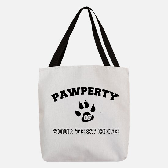 Personalized Cat Pawperty Polyester Tote Bag