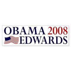 Obama-Edwards 2008 Bumper Bumper Sticker