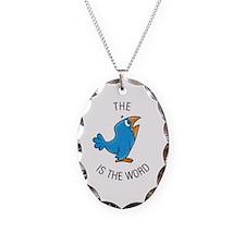 Cute Bird word Necklace