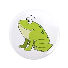 """cartoon frog.png 3.5"""" Button (100 pack)"""