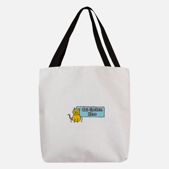 FIN-cat-spoken-here.png Polyester Tote Bag