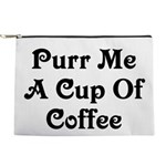 Purr Me A Cup of Coffee Makeup Pouch