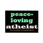 Peace-loving Atheist Rectangle Magnet (100 pack)