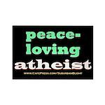Peace-loving Atheist Rectangle Magnet
