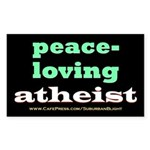 Peace-loving Atheist Sticker (Rectangle 10 pk)