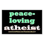 Peace-loving Atheist Sticker (Rectangle)